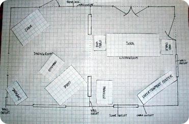 graph paper floor plan 1