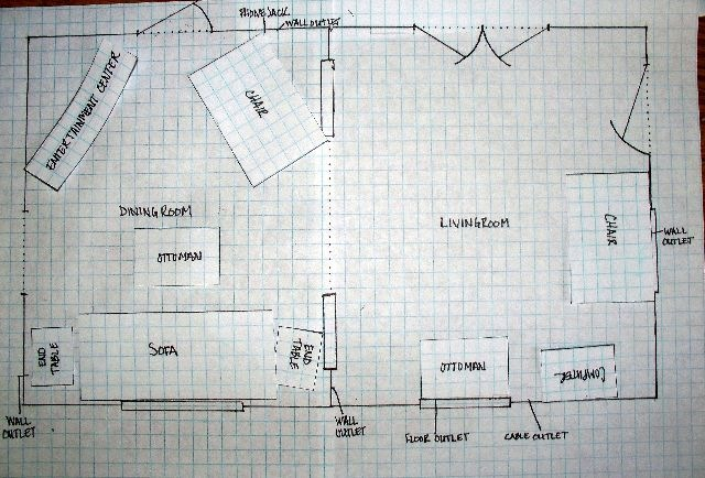 how to arrange furniture on paper