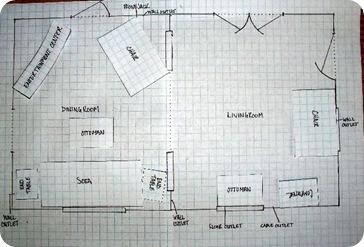 graph paper floor plan 2