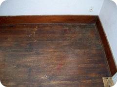 wood flooor corner before