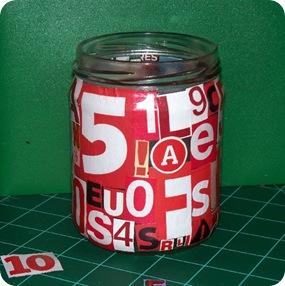 letter jar red