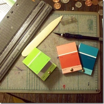 paint chip match book notebooks