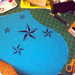 chica bag star stencil 2
